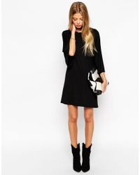 ASOS - Black T-shirt Dress With Kimono Sleeves - Lyst