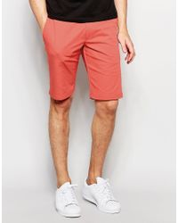 HUGO - Pink By Boss Smart Shorts In Cotton for Men - Lyst