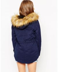 ASOS - Blue Tall Ultimate Parka - Lyst