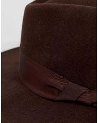 ASOS - Brown Wide Brim Pork Pie Hat In Chocolate for Men - Lyst