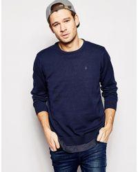 Blend | Blue Crew Knit Jumper Slim Fit for Men | Lyst