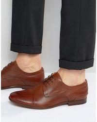 ALDO | Brown Sagona Leather Derby Shoes for Men | Lyst