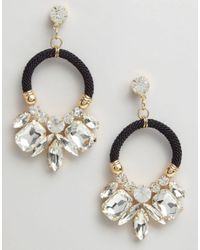 Nylon - Black Statement Earrings - Lyst