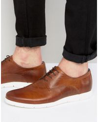 Dune | Brown Barny Leather Shoes for Men | Lyst