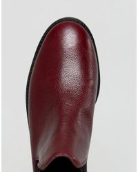 Faith   Red Binkie Oxblood Leather Chelsea Boots   Lyst