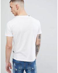 Replay White Tattoo Man T-shirt for men