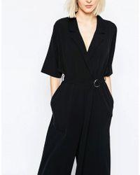 Weekday - Black Crop Jumpsuit - Lyst
