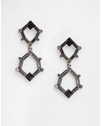 Nali | Multicolor Drop Hexagon Earrings | Lyst
