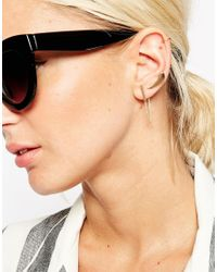 ASOS | Metallic Clean Metal Ear Crawler Cuff And Double Earring Pack | Lyst