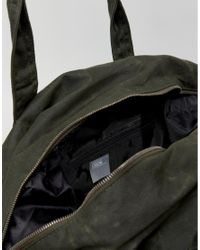 ASOS - Green Holdall In Khaki Washed Canvas for Men - Lyst