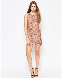Daisy Street - Pink Shift Dress In Floral Print - Lyst