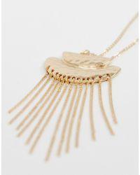 Pieces - Metallic Gold - Lyst
