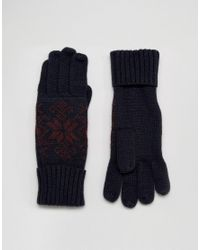 French Connection | Blue Touch Screen Gloves | Lyst