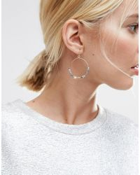 ASOS | Blue Limited Edition Mixed Metal Bead Drop Earrings | Lyst