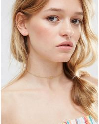 ASOS | Metallic Limited Edition P.s. Choker Necklace | Lyst