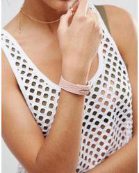 ASOS - Metallic Limited Edition Soft Bar Cuff Bracelet - Lyst