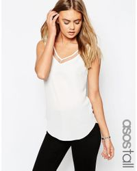 ASOS | Black Tall V Front And V Back Vest With Mesh Insert | Lyst