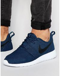 Nike | Blue Roshe One Trainers 511881-405 for Men | Lyst