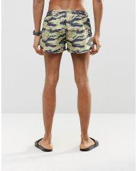 Abuze London - Green Short Swim Shorts In Camo for Men - Lyst
