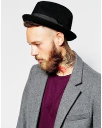 Brixton - Black Gain Fedora for Men - Lyst