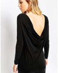 Y.A.S - Black Mariann Long Sleeve Dress - Lyst