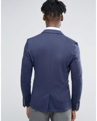 Only & Sons - Blue Slim Jersey Blazer for Men - Lyst