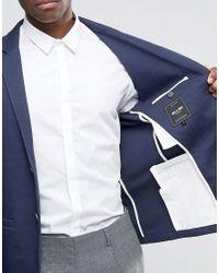 Only & Sons - Blue Slim Jersey Blazer for Men - Lyst