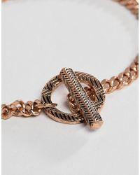 Icon Brand - Metallic Rose Gold Chain Bracelet for Men - Lyst