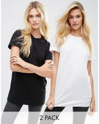 ASOS | White The Ultimate Easy Longline T-shirt 2 Pack Save 10% | Lyst