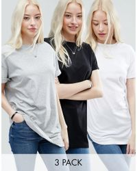 ASOS   White The Ultimate Easy Longline T-shirt 3 Pack Save 15%   Lyst