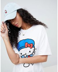 ASOS - Black Hello Kitty X Oversized T-shirt With Dabbing Print - Lyst