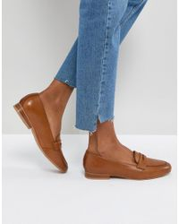 ASOS - Brown Asos Manhatten Leather Loafers - Lyst