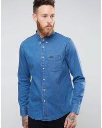 Lee Jeans | Buttondown Denim Shirt Micro Blue for Men | Lyst