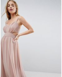 ASOS - Multicolor Side Cut Out Maxi Dress With Cami Straps - Lyst