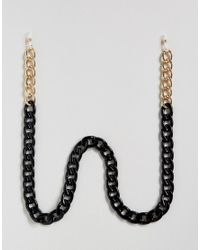ASOS | Oversized Sunglasses Chain In Black And Gold for Men | Lyst