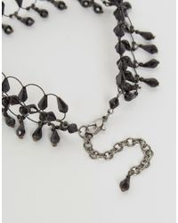 ASOS - Black Beaded Choker Necklace - Lyst