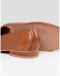 ASOS DESIGN - Brown Asos Manhatten Leather Loafers - Lyst