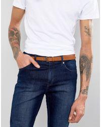 ASOS - Brown Super Skinny Belt In Tan for Men - Lyst