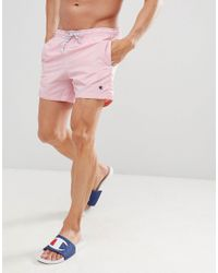 Champion Swim Shorts With Small Logo In Pink for men