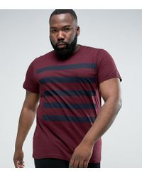 French Connection - Red Plus 5 Stripe Gradient T-shirt With Pocket for Men - Lyst
