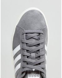 Adidas Originals - Gray Campus Sneakers In Grey Bz0085 for Men - Lyst