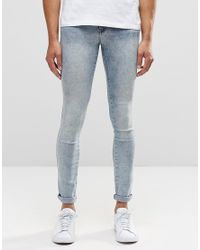 Dr. Denim - Kissy Extreme Super Skinny Jeans Light Blue Crush for Men - Lyst