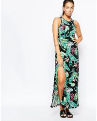 Seafolly - Blue Botanical Maxi Beach Dress - Lyst