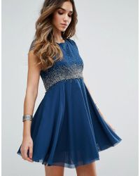 Free People | Blue Rock Candy Embllished Party Dress | Lyst