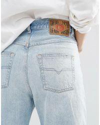 DIESEL - Blue Rosket High Waist Relaxed Boyfriend Jeans - Lyst