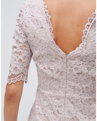 Reiss - Multicolor Dahlia Fitted Lace 3/4 Length Sleeve - Lyst