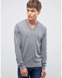 BOSS Orange | Gray By Hugo Boss Albino Vneck Sweater Merino Blend for Men | Lyst