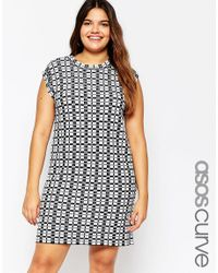 ASOS - Multicolor Curve Knitted Dress In Check - Lyst