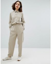 Weekday - Natural Utility Jumpsuit - Lyst