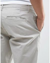 Only & Sons - Gray Slim Fit Chinos In Light Grey for Men - Lyst